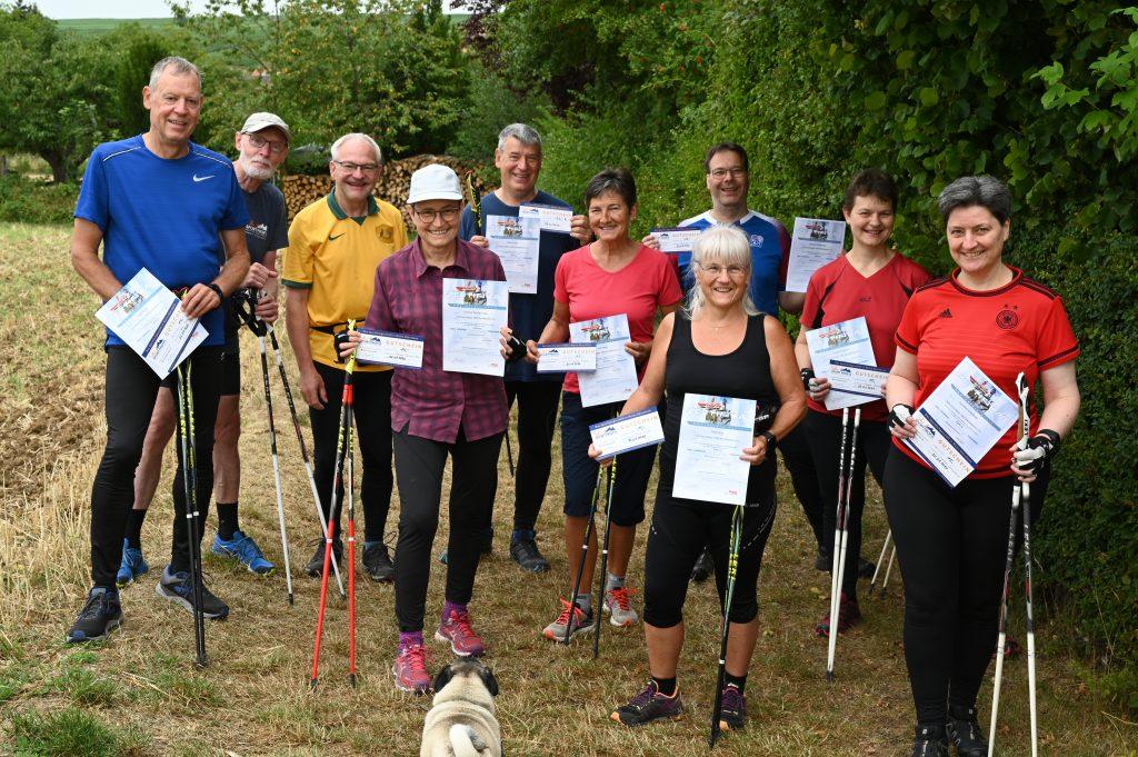 Zertifikatsausbildung DSV-Nordic-Walking-Trainer im Juli2020 in Wendelsheim/Rheinhessen